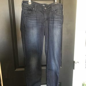 Full Length Dotted Navy Blue Jeans